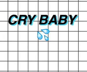 wallpaper, white, and cry baby image