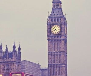 london, Big Ben, and bus image