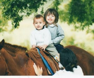 baby boy, cute, and horses image