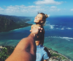 love, summer, and couple image