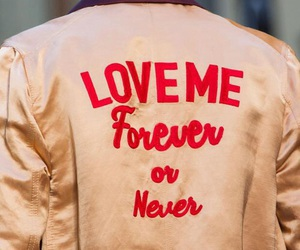 forever, never, and love me image