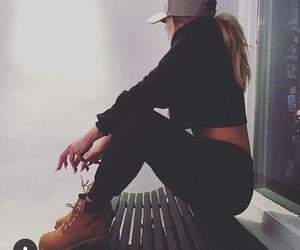 girl, timberland, and outfit image
