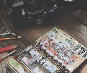 travel, journal, and camera image