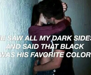 quote, love, and black image