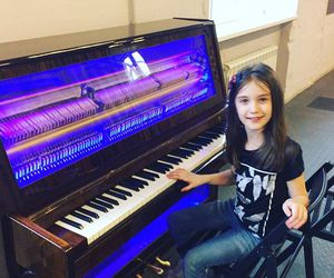child, synth, and girl image