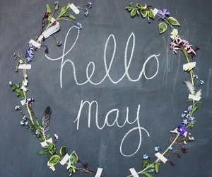 spring, hello may, and welcome may image
