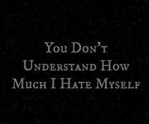 hate, sad, and depression image