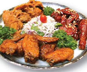 Chicken, food, and fried chicken image
