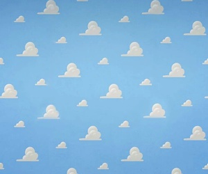 clouds, toy story, and sky image