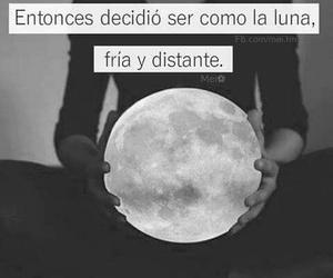 frases, luna, and fría image