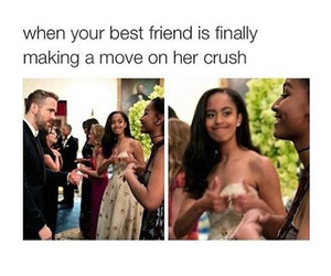 best friend, crush, and friendship image