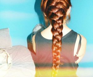 blonde, braid, and ginger image