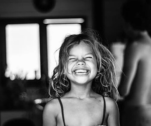 smile, girl, and black and white image