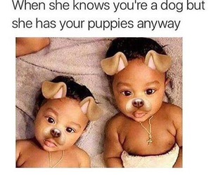 baby, family, and dogs image