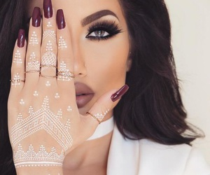 makeup, nails, and henna image