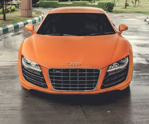 audi, car, and orange image