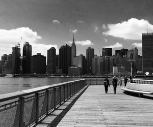 black and white, long island city, and new york image