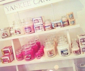 candle, pink, and yankee candle image
