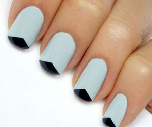 blue, nails, and black image