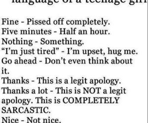 girl, language, and true image