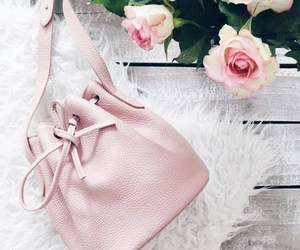 pink, bag, and flowers image