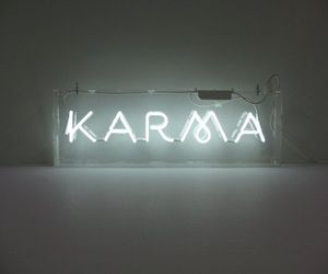 karma, neon, and light image