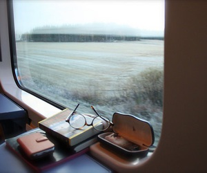 book, travel, and train image