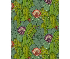 cactus, flowers, and pattern image