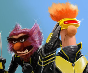 muppets, super heroes, and mashups image