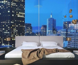 bedroom, luxury, and view image