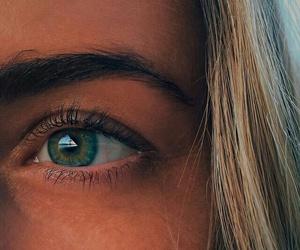 blonde, eye, and girl image