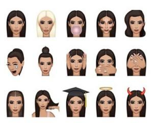 kim kardashian, kimoji, and emoji image