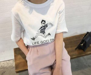 fashion, tshirt, and life goes on image