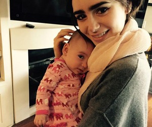 lily collins, baby, and beauty image