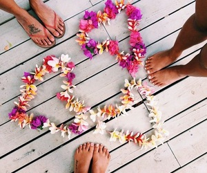 summer, flowers, and friends image