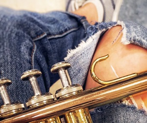 band, brass, and denim image