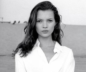 kate moss, black and white, and model image