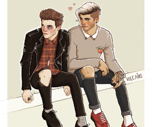 zouis, one direction, and zayn malik image