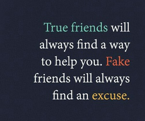 friends, excuse, and fake image