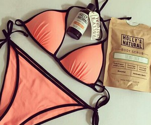 bikini, fashion, and orange image