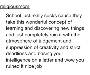 school, quote, and tumblr image