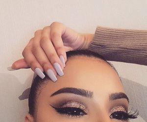 makeup, eyes, and brows image