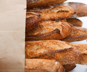 food, bread, and baguette image