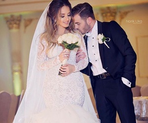 love is in the air, couple goals, and wedding dress goals image