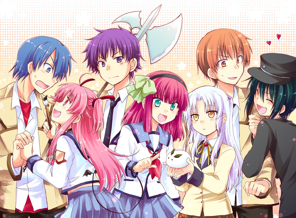 Lovely Angel Beats 1st Beat Painting