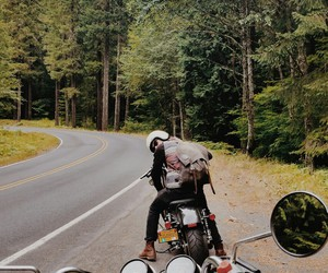 adventure, biking, and motorcycle image
