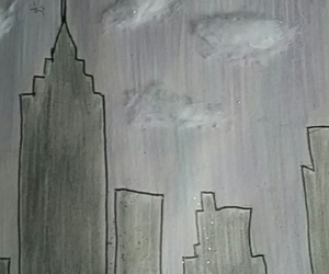 skyscrapers, wreck this journal, and colour the entire page image