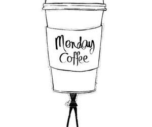 monday, coffee, and morning image
