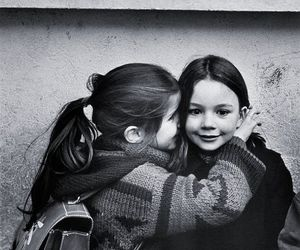 girl, child, and friends image