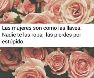 flores, frases, and mujeres image